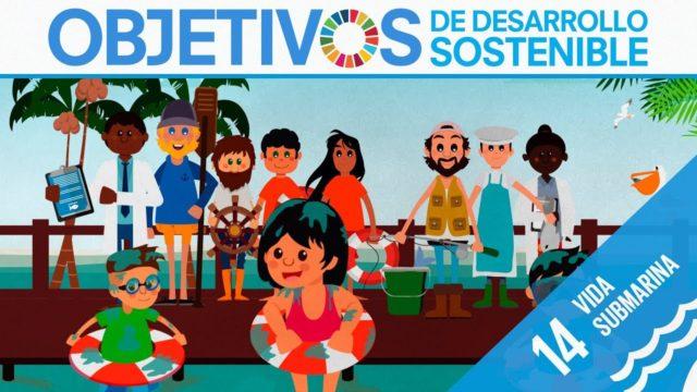 ODS 14 · Vida submarina · Objetivos de Desarrollo Sostenible