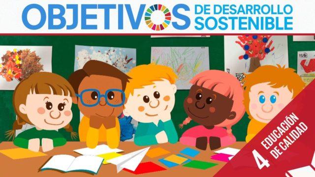 ODS 4 · Educación de calidad · Objetivos de Desarrollo Sostenible